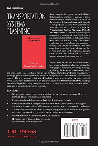 Transportation Systems Planning: Methods and Applications (New Directions in Civil Engineering)