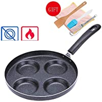 FIXD [0A02 Hogar Wok/Olla de Cocina, sartenes sartén Pan Antiadherente Pan casero Mini Huevos fritos Huevos escalfados Hamburgo Dumplings Olla, freidora Style-1