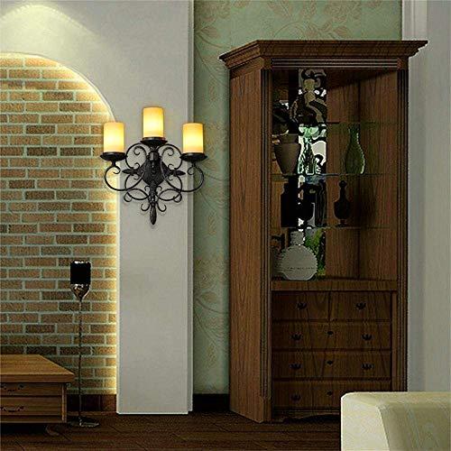 CWJ Lampe-Wandleuchte Dekorative Lichter Schlafzimmer Gang Amerikanischen Land Europäischen Retro Wohnzimmer Kerze Villa Balkon Gang Wand Haushalt Licht