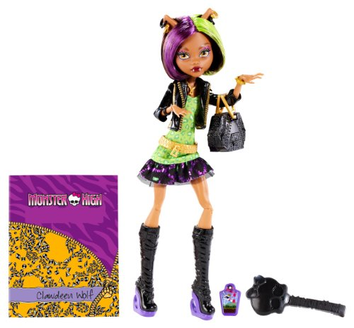 Mattel Monster High BGT38 -  New Scare-mester Clawdeen, Puppe mit Zubehör (Monster High Werwolf)