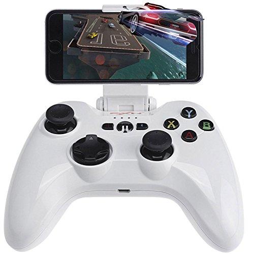 Kabelloses Gamepad, Megadream MFi iOS Game-Controller Joystick kompatibel mit iPhone XS XR X 8 8Plus 7 7Plus 6S 5S 5, iPad, iPad Mini 4, iPad Pro, Apple TV, iPod Touch & Drohne, Weiß -