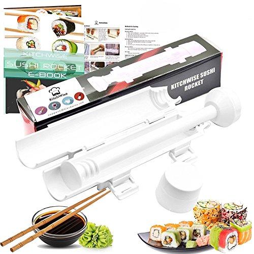 Floweryocean per sushi bazooka roller sushi maker kit completo, hai bisogno di riso e alghe nori.