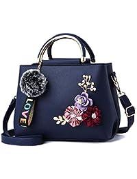 ceb96aff9 Bolsos de Mensajero de Cuero del Bolso del diseñador de Flores de Las  Mujeres