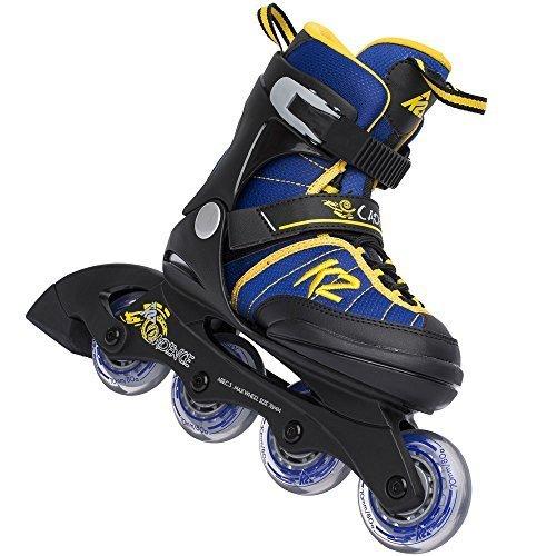 K2 Cadence Boys Inline Skates 3050960 2016 - Blau/Gelb Gr. L (35-40)