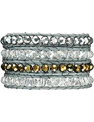 Rafaela Donata - Bracelet en cuir véritable - Cuir véritable cristal de verre, bracelet cristal de verre, collier en cuir véritable, bijoux en cuir - 60831002