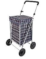 New Hoppa 63 litre folding lightweight shopping trolley shopping bag on wheels (Blue)