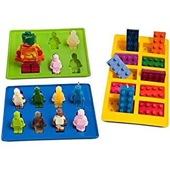 Joyoldelf Silicone Silly Candy Molds & Ice Cube Trays for Building ...