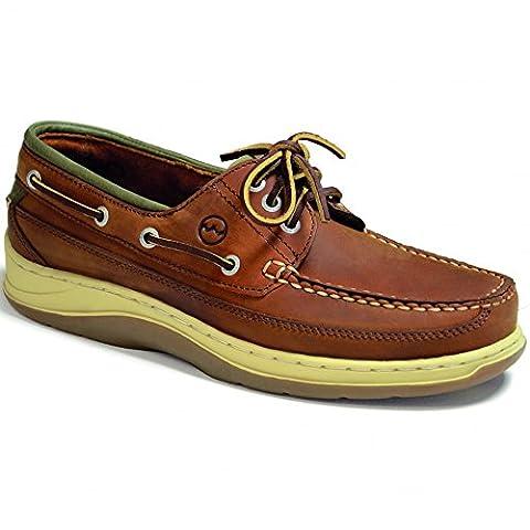 Orca Bay Mens Squamish Sand/Olive Leather Sports Deck Shoe UK 10.5 / EU 45
