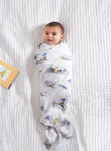 aden + anais DISN100G Classic swaddle winnie the pooh, 4 pack
