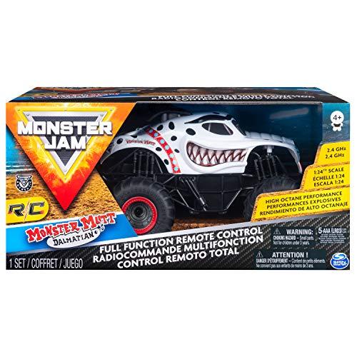Monster Jam 1:24 RC - Monster Mutt Monster Truck Motor eléctrico - Vehículos de Tierra por Radio Control (RC) (Monster Truck, Motor eléctrico, 1:24, Ready-To-Drive (RTD), Blanco, De plástico)