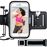 Gritin Running Armband for iPhone 8/7/6 Plus, Skin-Friendly Sweatproof Sports Running Armband