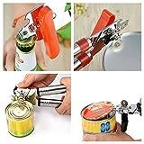 #2: Multifunctional Stainless Steel Can Opener Craft beer Grip Opener Cans Bottle Opener - Assorted color