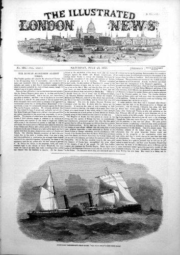 Stella Polare 1853 dell'Yacht del Vapore di Vanderbildts del Commodoro [Cucina & Casa]