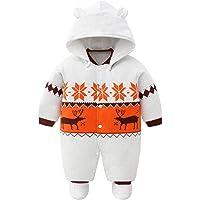 Bambino Ragazze Ragazzi pagliaccetto Neonato addensare Snowsuit Autunno inverno infantile tute attrezzatura 3 mesi Vine
