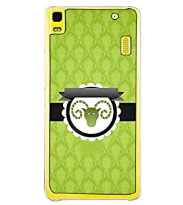 Fuson Designer Back Case Cover for Lenovo A7000 :: Lenovo A7000 Plus :: Lenovo K3 Note (floral design aries zodiac sign )