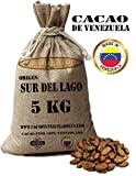 Kakaobohnen, ungeröstet - Venezuela Kakao Herkunft Sur del Lago | Cacao Venezuela Delta - Edelkakao 100% aus Venezuela - Premium-Qualität | Jutesäcken 5kg
