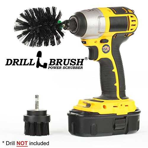 Drillbrush 2 piezas de tamaño mini Black Ultra Stiff es rotatorio de...