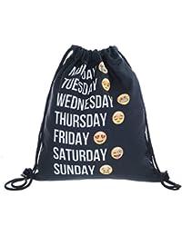 Emojis Bag Sackpack Drawstring Backpack Rucksack Shoulder Gym Bags By Emojis Collection