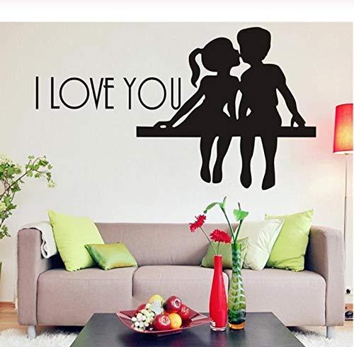 Lyiting Unendlichkeitssymbol Liebe Schlafzimmer Wandtattoo Zitate Romantische Wandaufkleber Wohnkultur Kuss Wandkunst Aufkleber