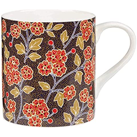 Queens - Taza de cerámica, diseño de flores, multicolor