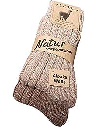 kb-Socken Lot de 2 paires de chaussettes unisexes cousues main en laine et alpaga Tailles 43-46, 39-42, 47-50, 35-38.