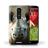 Stuff4 Coque de Coque pour LG G2 / Rhinocéros Design/Animaux sauvages Collection