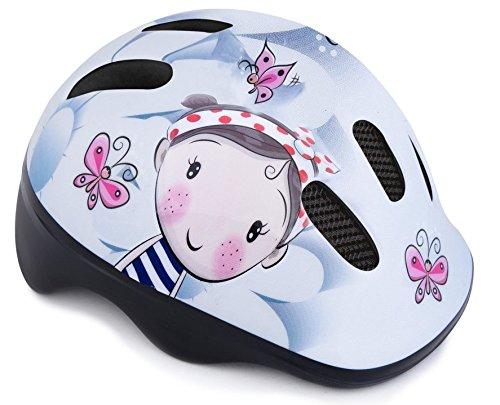 Spokey Kinder Mädchen Jungen Kinder Fahrrad-Helm Fahrrad Bike Skating 44–48cm, police claper blue girl, Aggie, 44-48 cm