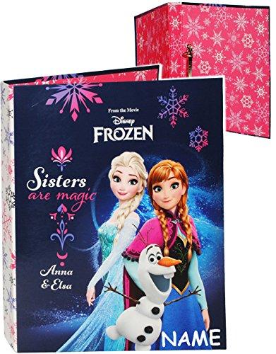 alles-meine.de GmbH Ordner / Ringbuch / Sammelordner -  Disney Frozen - die Eiskönigin  - incl. Name - A4 - Ringordner für Dokumente / 2 Ring - Mechanik - Aktenordner - Schulor..