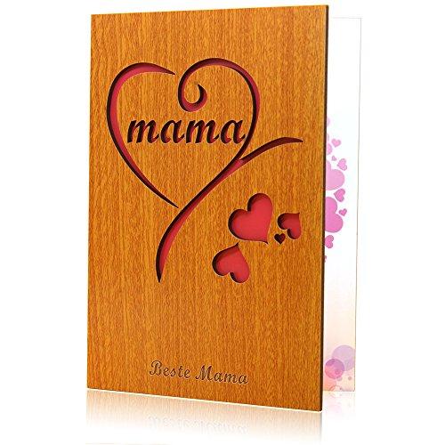 Muttertagskarte geschenke für mama Hölzerne Karte Beste MAMA Alles Liebe zum Muttertag