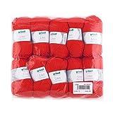 Gründl Lisa Premium Bolsa de 10 Ovillos, Acrílico, Rojo, 34 x 30 x 8.5 cm