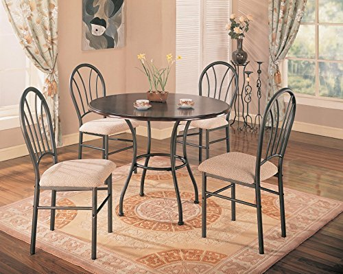 5pc-dining-table-and-chairs-set-metal-base-rich-dark-brown-finish-by-coaster-home-furnishings