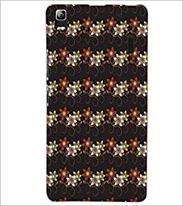 PrintDhaba Floral pattern D-5382 Back Case Cover for LENOVO A7000 TURBO (Multi-Coloured)