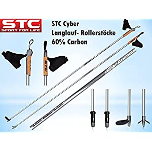 STC Cyber 60% Carbon Langlaufstock Skating Roller Stöcke Rollski Stöcke Skike