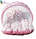 Nagar International Baby's Polyester Soft Mattress with Mosquito Net in Multi Color