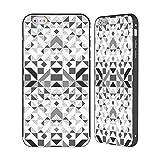 Head Case Designs Offizielle Vasare NAR Geometrisch Grau Muster 3 Schwarz Rahmen Hülle mit Bumper aus Aluminium für iPhone 6 Plus/iPhone 6s Plus