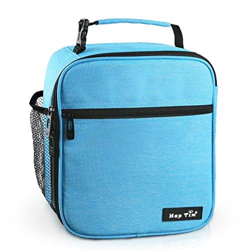 Hap Tim Lunchbox Tasche kühltasche Isoliertasche kleine Lunchtasche für die Arbeit und Schule 6.5L Lunch Tasche Thermotasche Picknicktasche Mittagessen Tasche Bento Box(Gray UK-18654-BL)