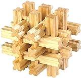 Playtastic Knobelwürfeln: Geduldspiel aus Holz - 18 Brüder (Knobelspiele)