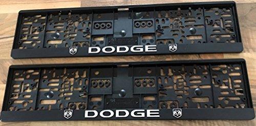 2-x-Dodge-Kennzeichenverstrker-Kennzeichenhalter-Top