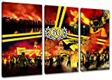Dresden Geburtstag Sechzig, 3-Teiler Format: 120x80, Bild auf Leinwand XL, fertig gerahmt