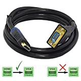 Storite Unidirectional HDMI to VGA Converter Cable 1.2 Meter for Laptops/Tablets/PCs (Black)