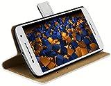 mumbi Tasche im Bookstyle für Motorola Moto X Play Tasche weiss