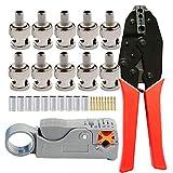 Hantek Professional HT311 Adattatore per spina a banana BNC a 4mm per oscilloscopi 2 pezzi Adattatore per sonda a oscilloscopio