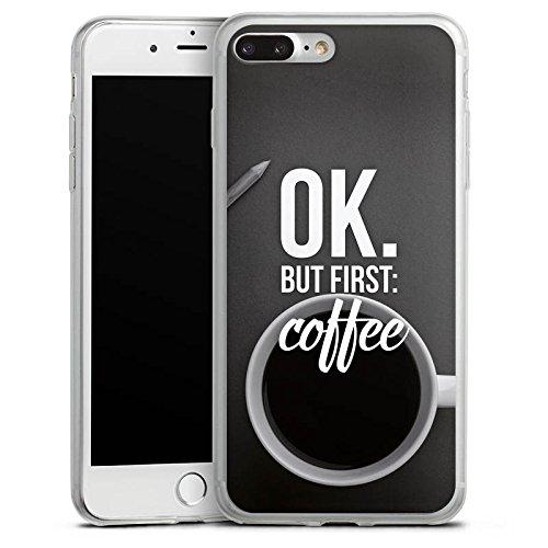 Apple iPhone X Slim Case Silikon Hülle Schutzhülle Kaffee Sprüche Spruch Silikon Slim Case transparent