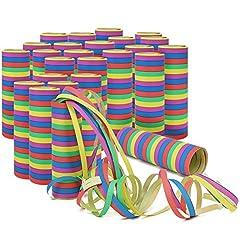 Idea Regalo - COM-FOUR® Rotoli da 25x Party Stream Deco per es. Compleanni o Capodanno (25 Pezzi - Stelle filanti)