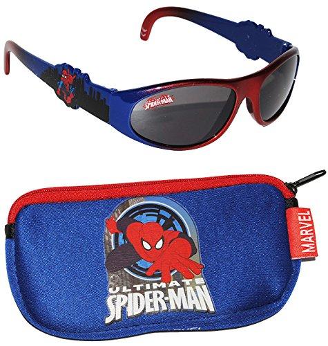 alles-meine.de GmbH 2 TLG. Set _ Sonnenbrille & Brillenetui -  Ultimate Spider-Man  - 1 bis 8 Jahre - 100 % UV Schutz - UV 400 ( passend für Kinder von 1 bis 8 Jahren - die Bri..