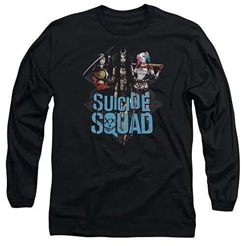 Suicide Squad Herren Langarmshirt Schwarz