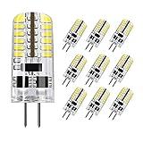 DiCUNO G4 LED Lampe 3W, Tageslicht 6000K, AC/DC 12 V mit 230 LM, Ersatz für 20W-25W Halogen Lampen, undimmbares Leuchtmittel, 10-er Pack