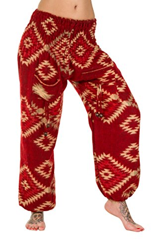 ThaiUK Damen Hose mehrfarbig mehrfarbig one size Aztec Red