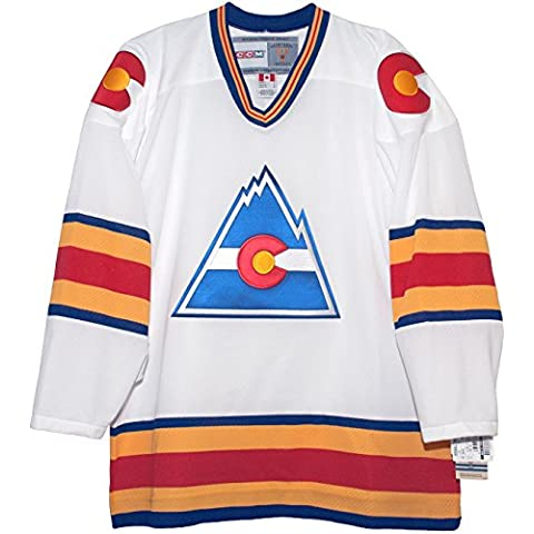 Colorado Rockies Home White Vintage NHL Jersey (XL) by CCM