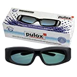 3D Shutterbrille - Universal 3D Active Shutter 3D Brille von PULOX - Neuheit: Mit Infrarot und Bluetooth Empfänger für 3D HDTV + Blue-Ray Auto-Sync passend für Samsung, Sony, Panasonic, LG, Sharp, Philips, Toshiba